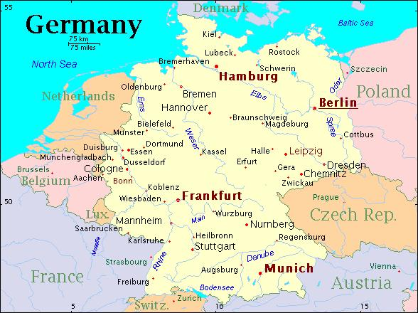 الطريق الى المانيا المانيا الموقع والتضاريس والمناخ