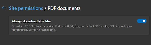Block PDF Viewer in Microsoft Edge
