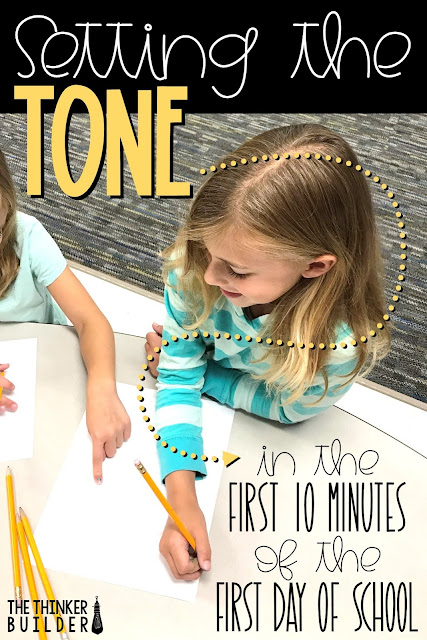 A simple but effective strategy for setting the right tone in the first 10 minutes of the first day of school.