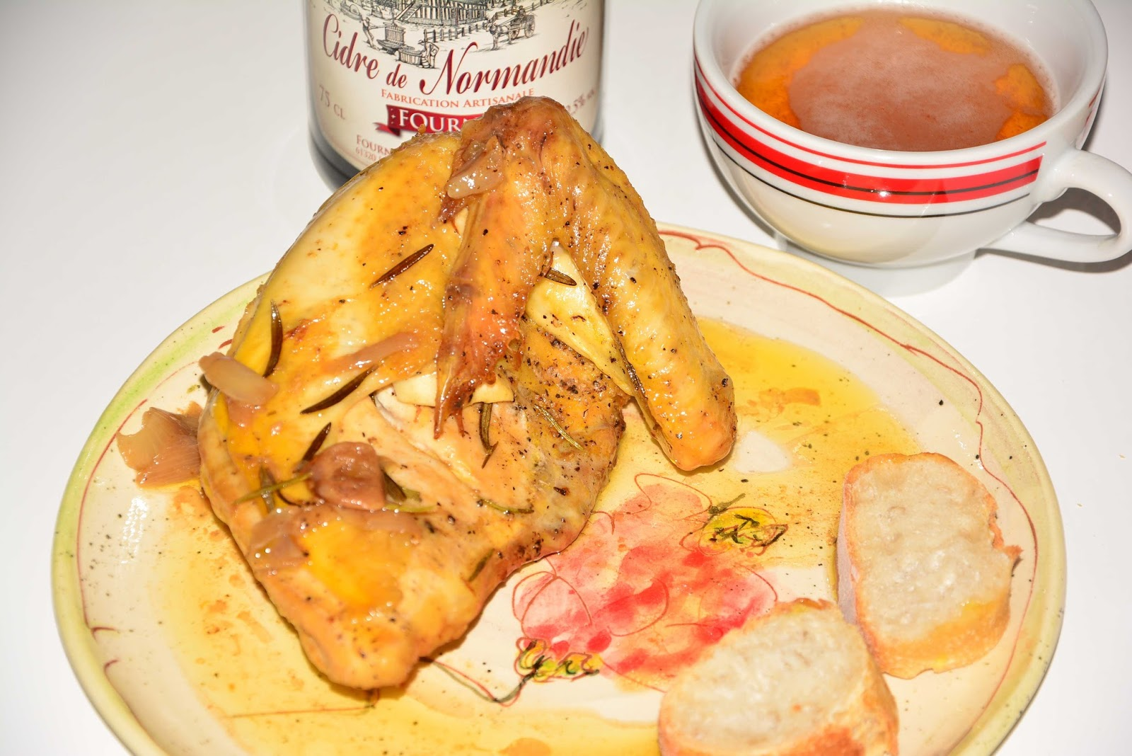 Roasted chicken with cider