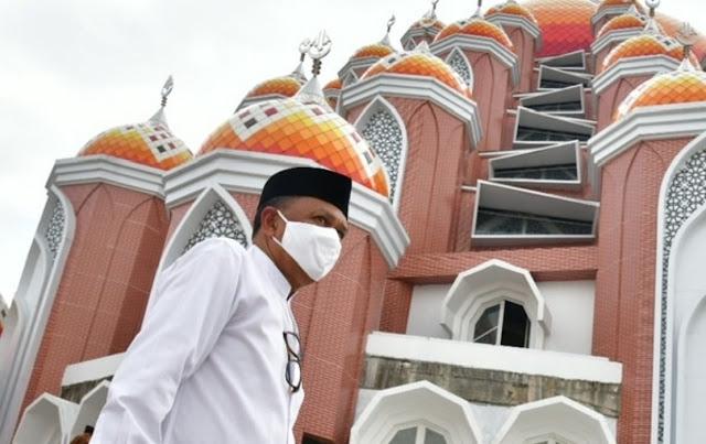 Nurdin Abdullah Targetkan Penggunaan Masjid 99 Kubah CPI Makassar pada Ramadan 2021