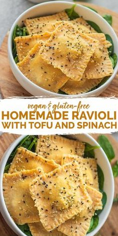 Homemade Vegan Ravioli With Tofu And Spinach