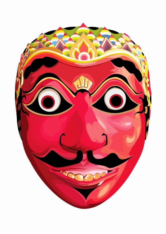 Gambar Topeng Tradisional Jawa Barat Seni Budaya Indonesia