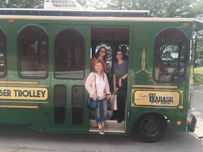 Riding the trolley around Hamilton, MO