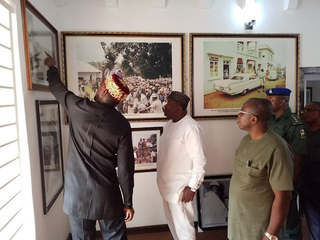 Ugwuanyi Inspects Nnamdi Azikiwe's Residence Renovated By Enugu State Government