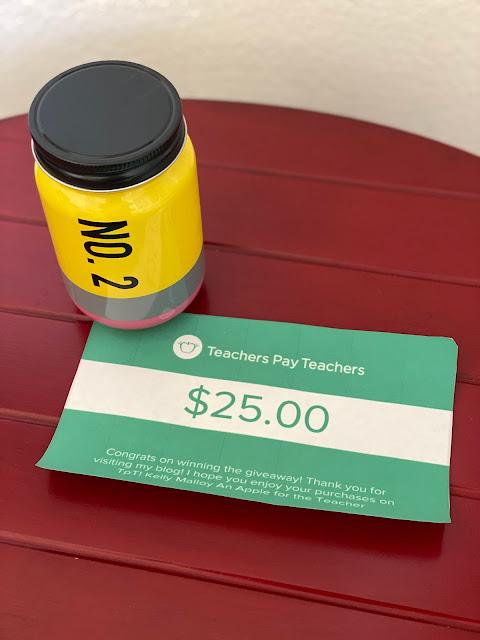 $25 Teachers pay Teachers Gift Card Giveaway