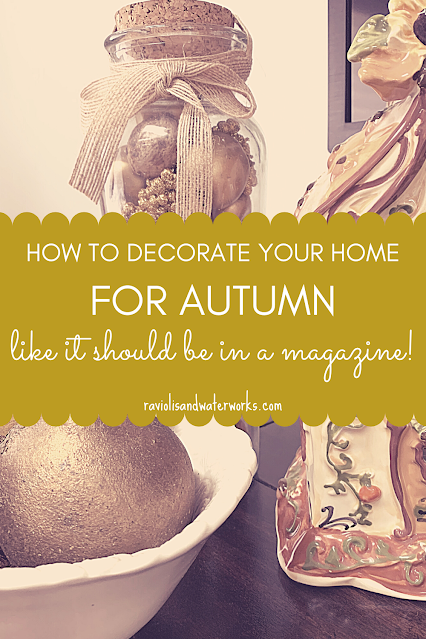 how to decorate your home for autumn to look like a magazine cover