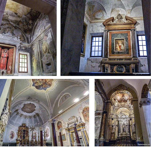 Capelas e sacristia da Basílica de Sant'Apollinare Nuovo, em Ravena, Itália
