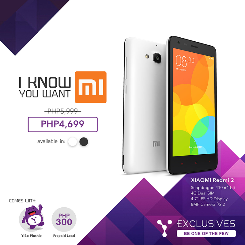 Xiaomi Redmi 2 for 4,699 Pesos only