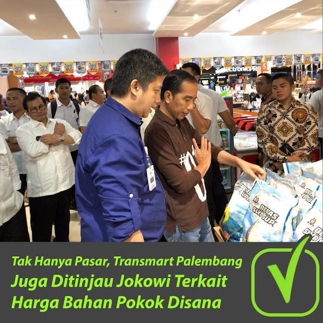 Tak Hanya Pasar, Transmart Palembang Juga Ditinjau Jokowi Terkait Harga Bahan Pokok