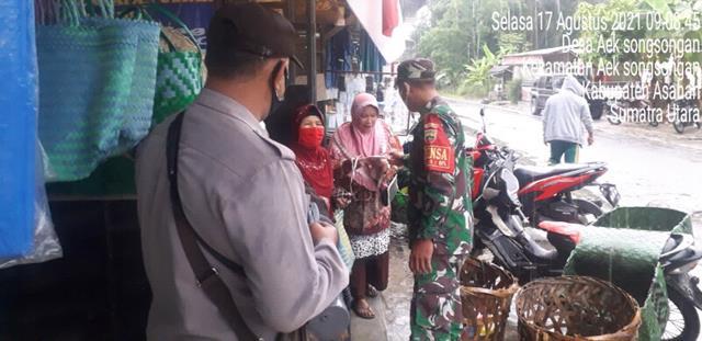 Kompak Personel Jajaran Kodim 0208/Asahan Bersama Polsek Laksanakan Operasi Yustisi Diwilayah Binaan