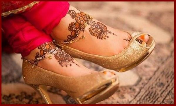 Easy Feet Mehndi Designs : Top wedding mehndi design for legs dulhan leg henna bride