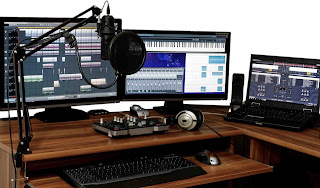Studio depicting how a voice of a voice artist can be significantly boosted
