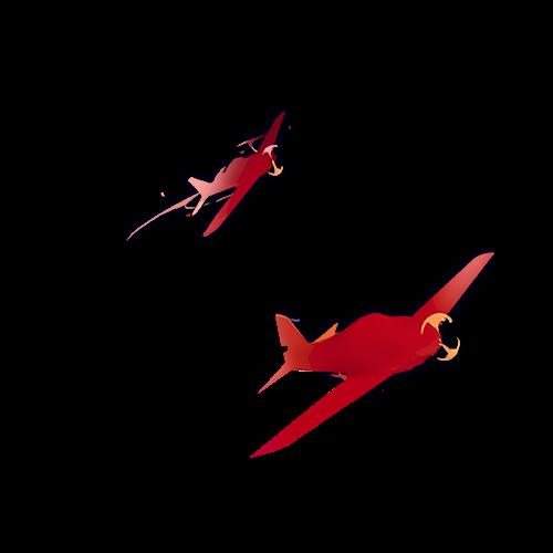 render aviones rojos