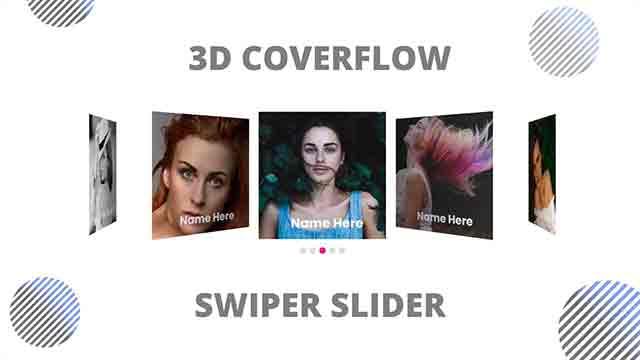 3d coverflow swiper slider