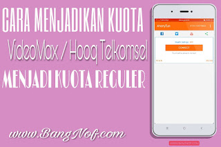 Cara Menjadikan Kuota Videomax / Hooq menjadi Kuota Reguler