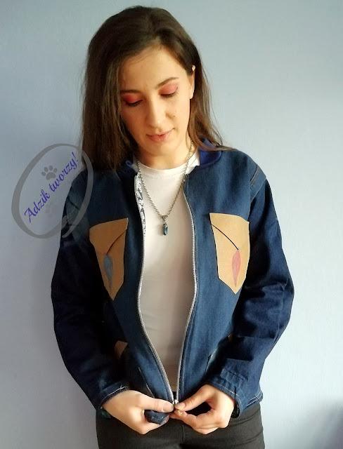 jeansowa kurtka damska DIY ze spodni