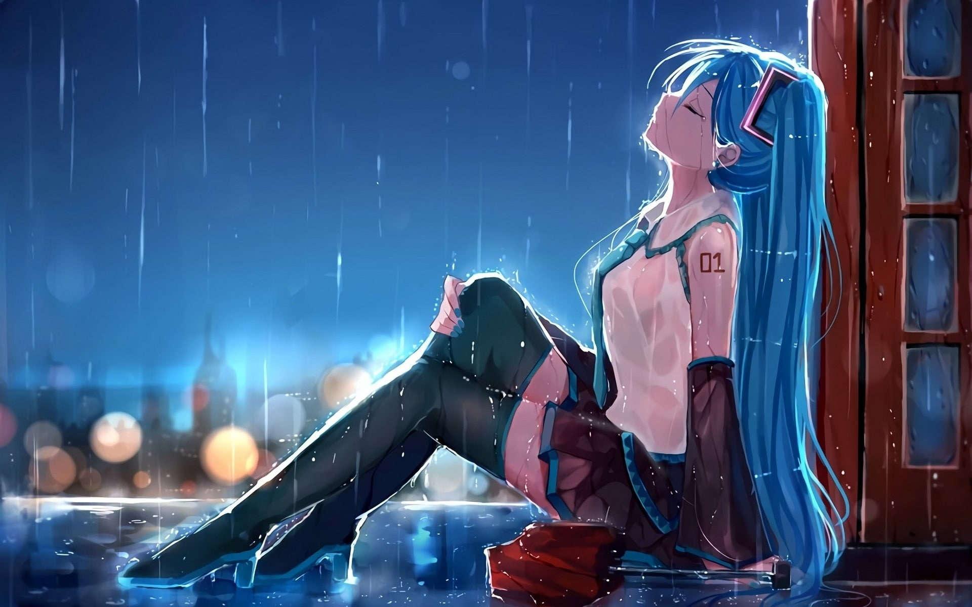 Hatsune miku sedih wallpaper