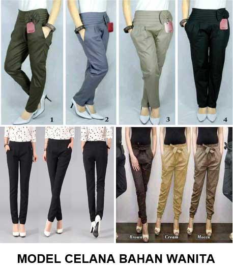 Model celana bahan wanita