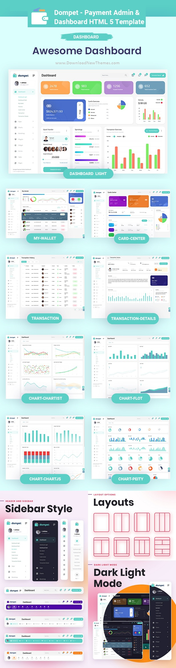 Payment Admin Dashboard Bootstrap Template