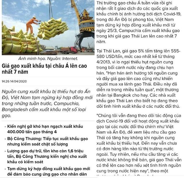 Gạo Việt Nam Nằm cảng giá rẻ, gạo Thái Lan trúng đậm, bài toán gạo VN giá rẻ không lời giải?