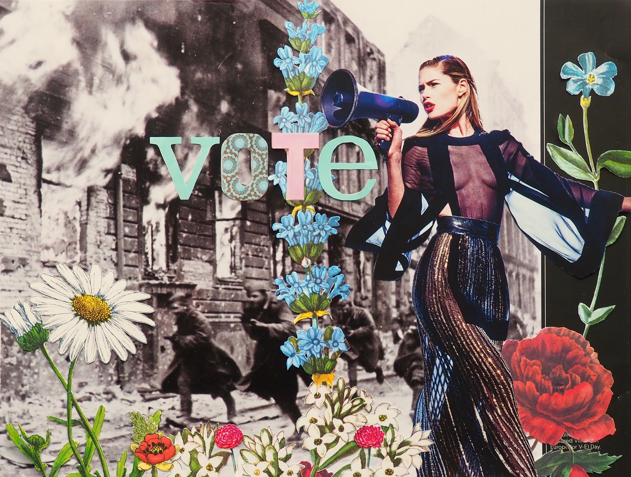 election day 2020, united states general election 2020, US Presidential Election 2020, Vote 2020, election collage 2020, vote collage 2020, cut and paste collage, hand cut collage, color and black and white collage, cut and paste collage, women in collage,