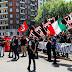 25 Aprile liberiamoci dall'antifascismo. In 100 alla mobilitazione romana di Avanguardia e Forza Nuova per i camerati reclusi