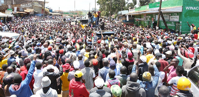 Nyali MP Mohamed Ali in Muranga with DP William Ruto