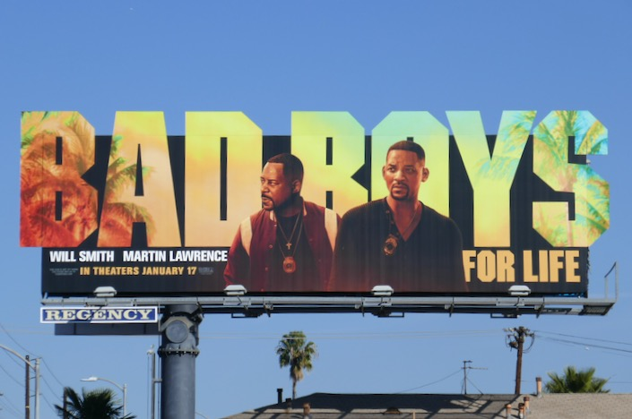 Bad Boys For Life extension cut-out billboard