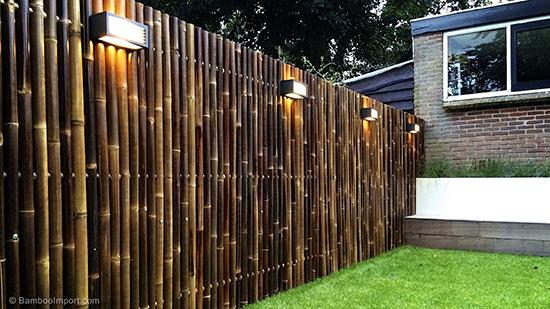 model desain pagar minimalis dari bambu