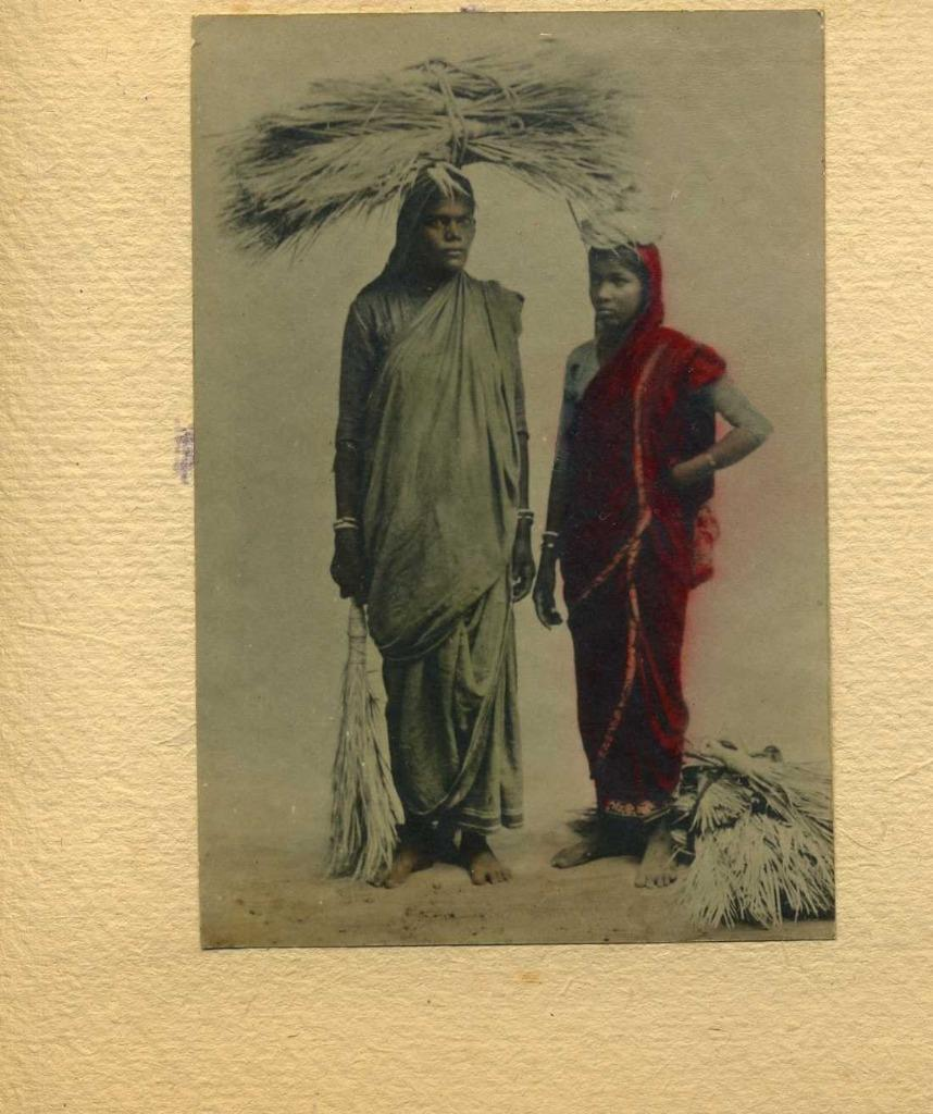 Hand Painted Photograph of Two Women