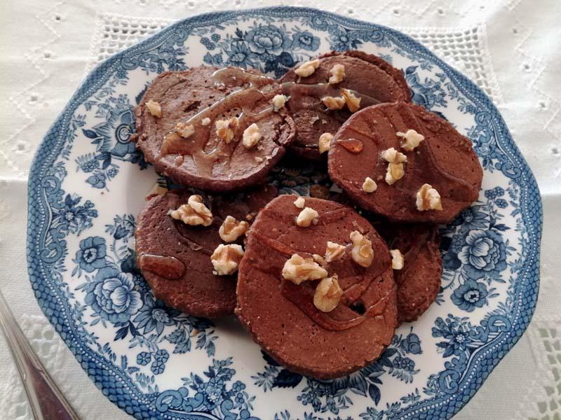 Pancake con banana, avena e cacao