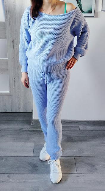 Femmeluxe - Czerwcowe zamówienie - Sweterkowy zestaw, modna spódniczka ze sztucznej skóry i kurteczka w kratę