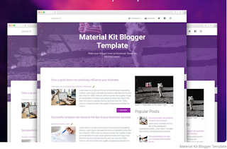Material Kit Blogger Template