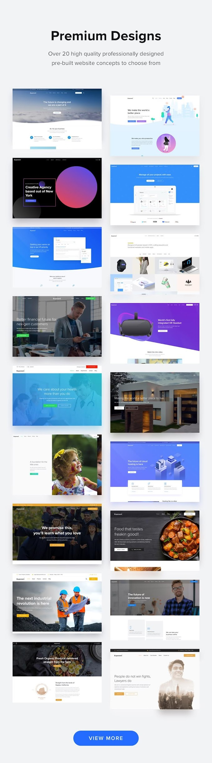 Exponent - Modern Multi-Purpose Business WordPress theme review