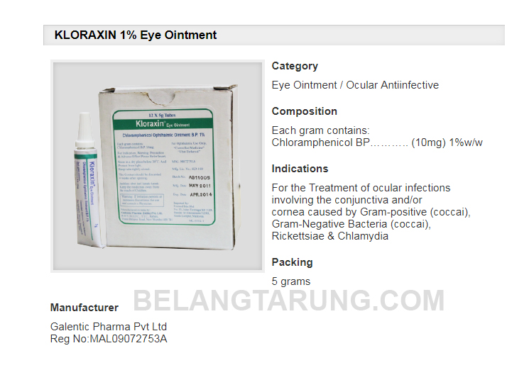 Kloraxin Ubat Sakit Mata Untuk Kucing Yang Mujarab