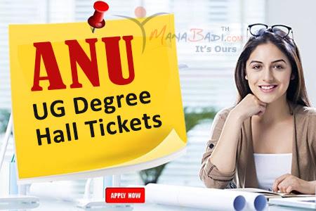 ANU UG Degree Hall Tickets 2021