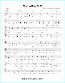 chord all or nothing at all 1 lagu jazz standar