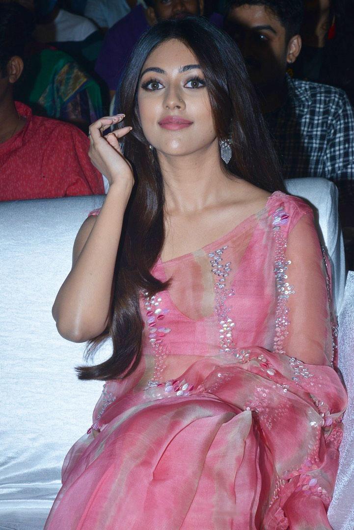 hot actress Anu Emmanuel images In Pink Saree