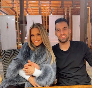 Elena Galera Moron with her husband Sergio Busquets