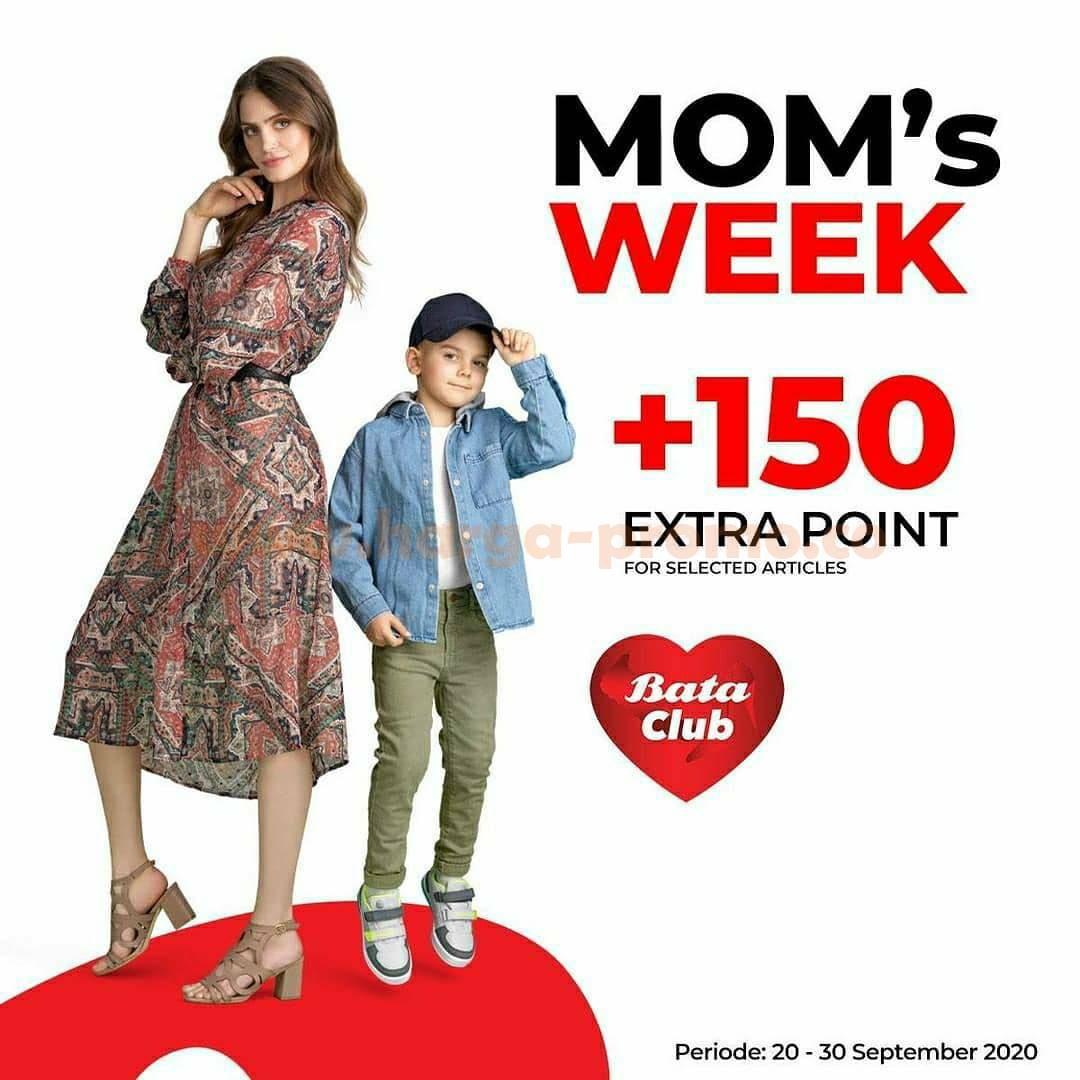 Promo BATA Club MOM's WEEK Gratis Voucher Rp 50K + 150 Extra Point