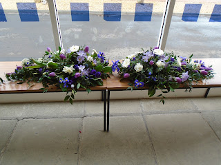 Mum's funeral flowers at Masonhill, 1