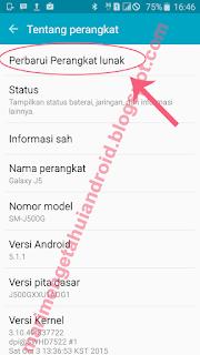update sistem android smartphone samsung sus tablet otomatis