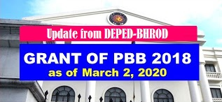 PBB 2018 DepEd Update as of March 2