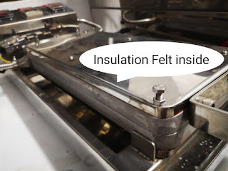 Insulation Felt inside egg roll cookie machine