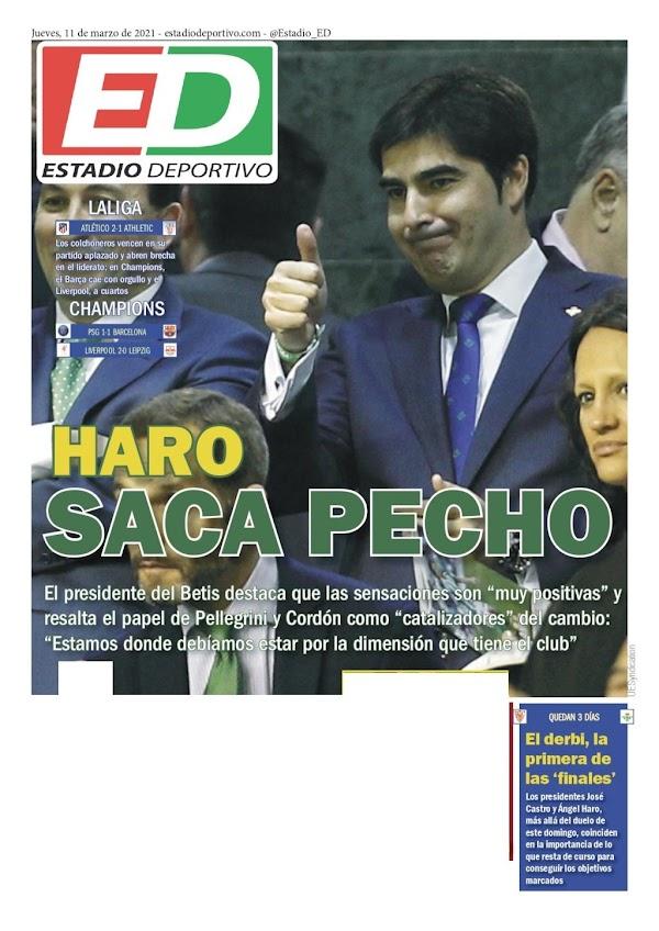 "Betis, Estadio Deportivo: ""Haro saca pecho"""