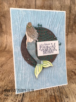 Handmade card made with Balmy Blue paper and Magical Mermaid stamp set from Stampin' Up!