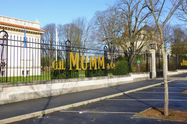 Paris to Reims: G.H. Mumm Champagne House fence