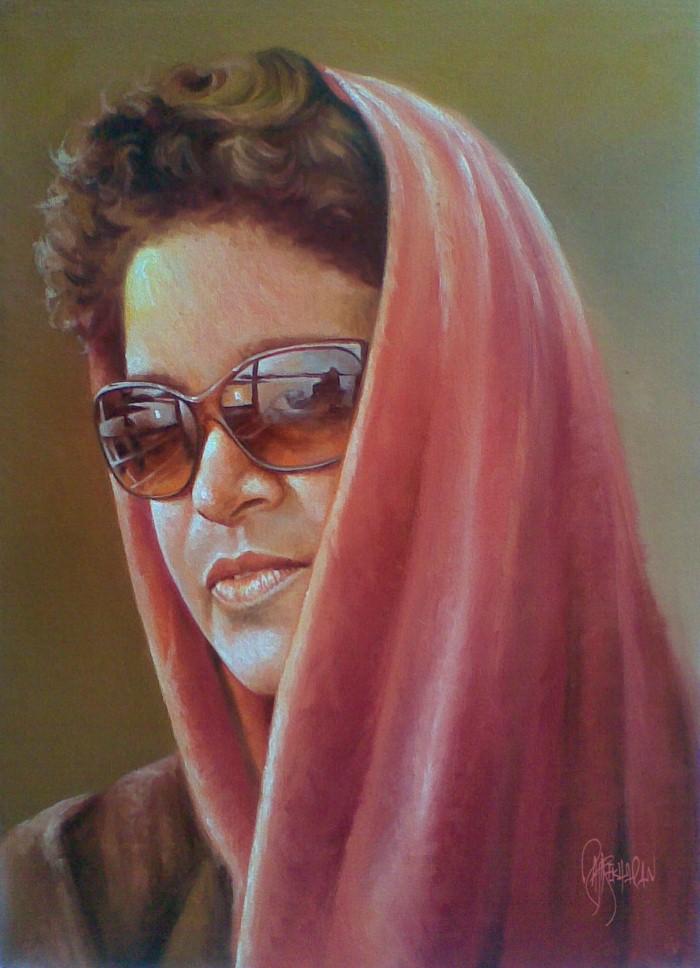 Портреты в стиле реализм. Rajasekharan Parameswaran 13