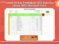 Contoh Berkas Pembukuan BOS Buku Kas Umum (BKU) Microsoft Excel